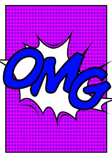 ART - POP ART - OMG PURPLES canvas print - self adhesive poster - photo print